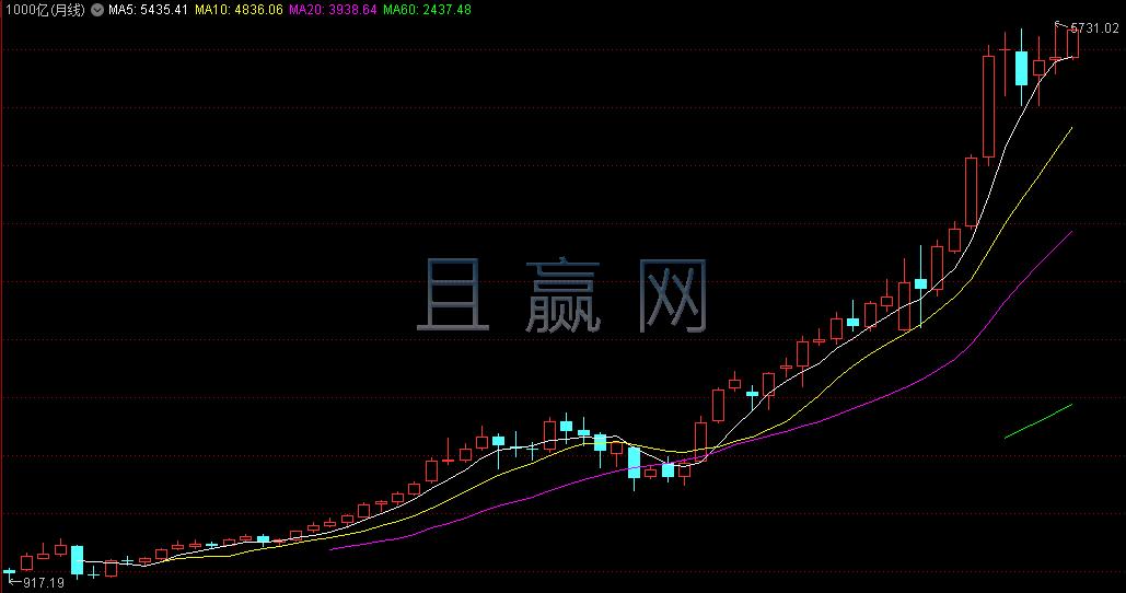 1000亿以上的股票组合指数(月线)